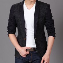 2015 New Brand Mens fashion Business Blazer Slim Fit Jacket Casual Suits Blazers Coat One Button