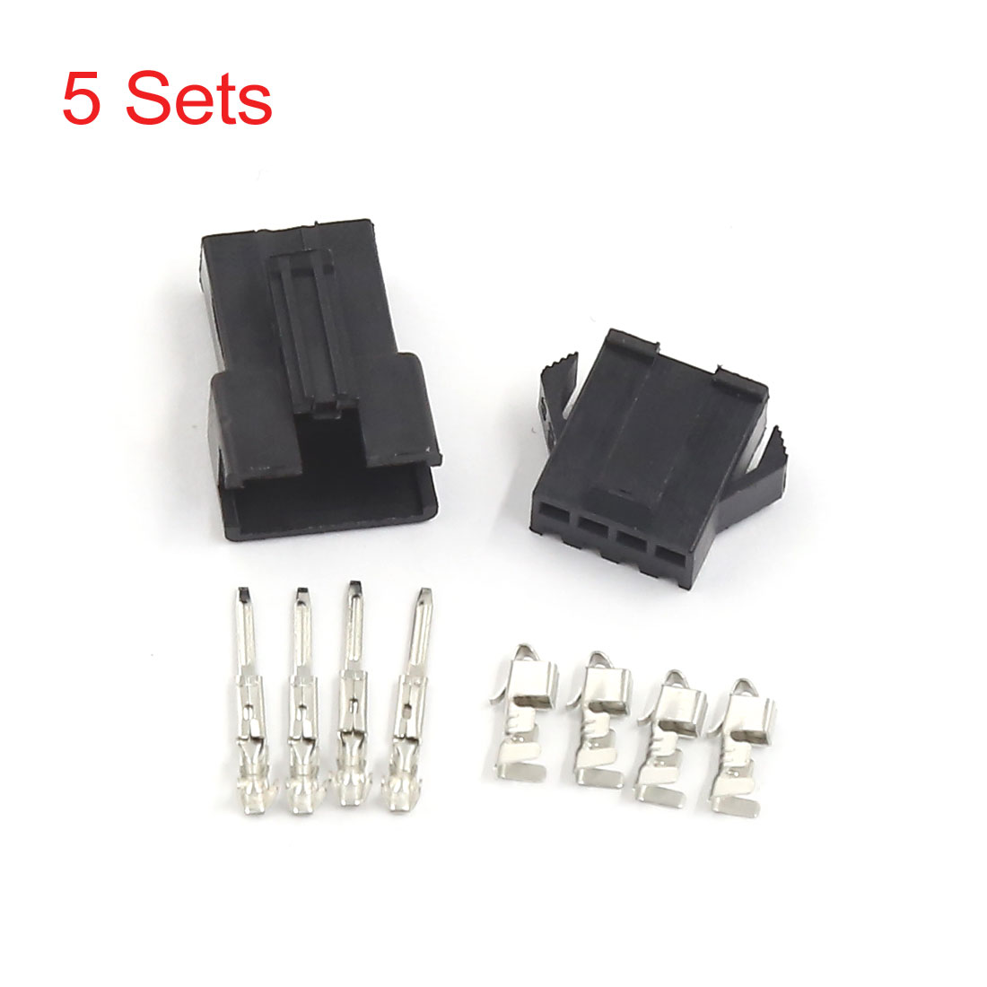 UXCELL 5 Sets 4 Pin Male Female Slot Power Supply Pcb Board Car Atx Connector(China (Mainland))