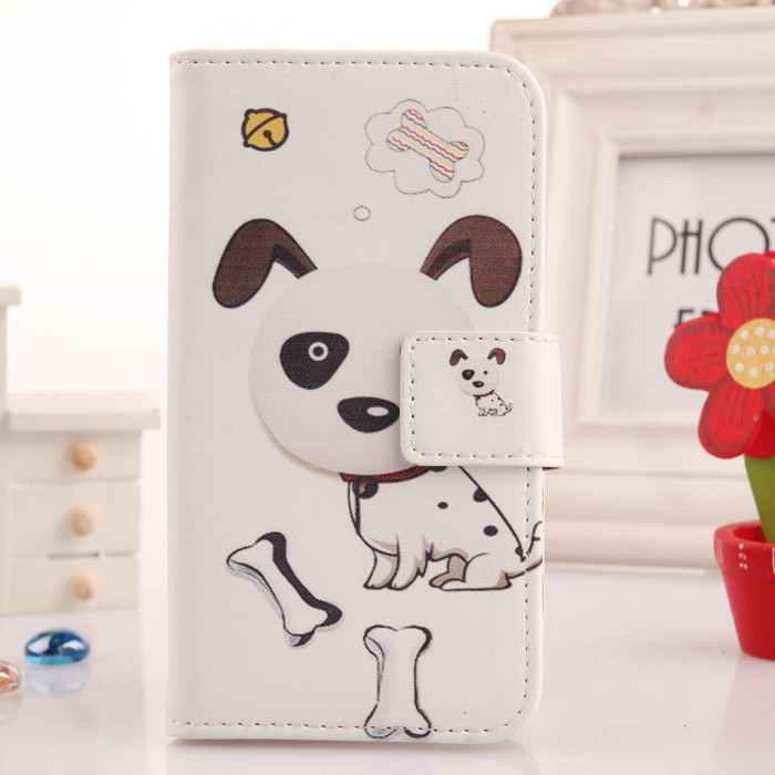 Colorful Leather PU Skin Cell Phone Cover Book Design Wallet Pouch & Card Holder Case For UTime Smart G7 4.5 Quad Core Dual SIM(China (Mainland))