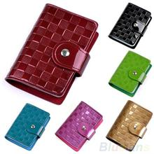 Woman Lady Patent Leather ID Credit Card Case Holder Pocket Bag Wallet  Hot Sale