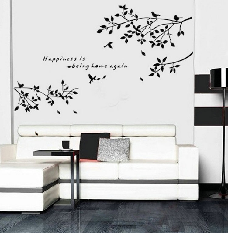 Birds On Tree Branches Wall Sticker Removable Vinyl Decal Art Mural Quote Home Room Wall Decor DIY(China (Mainland))