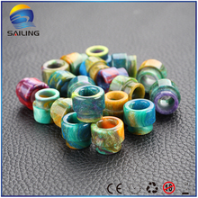 Buy Sailing vape Epoxy resin drip tips multi color electronic cigarette top cap Twisted Messes V2 rda atomizer for $11.99 in AliExpress store