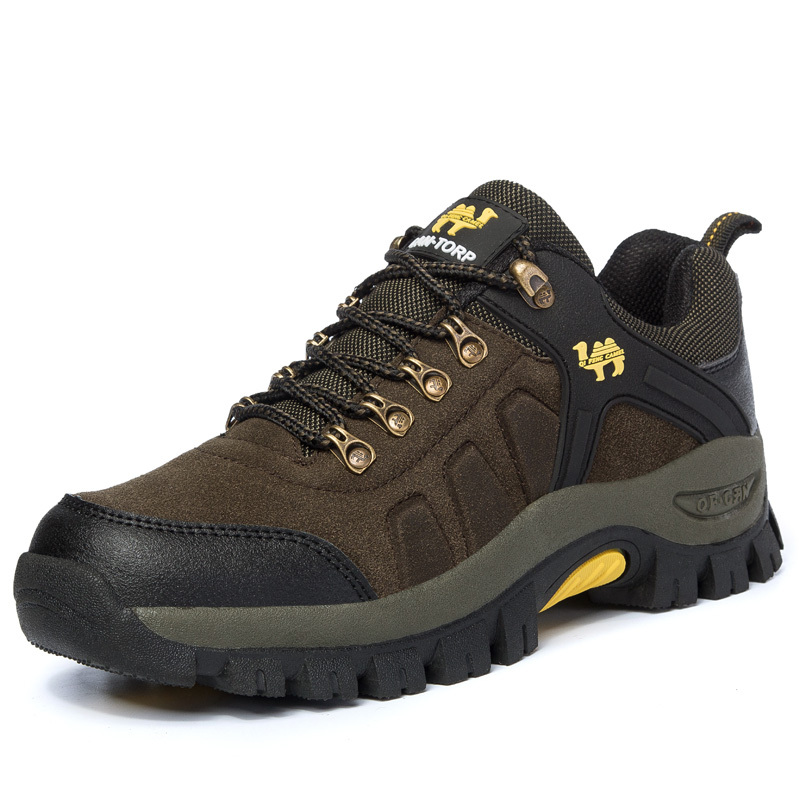 202015 Spring And Autumn New Men Outdoor Shoes Leather Low Top Lace Mesh Casual Hiking Shoes Big ...