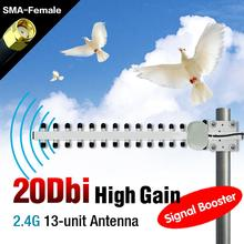 20 dBi 2.4 GHz 802.11b/g Wifi Yagi Antenna RP-SMA WLAN For Modem PCI Card Router