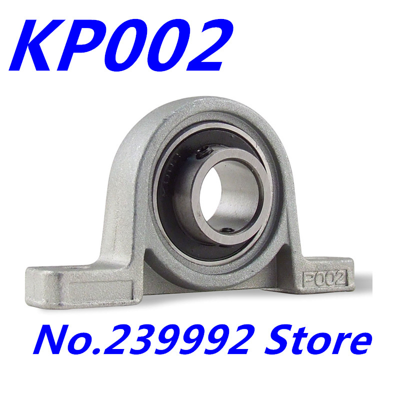 Free shipping 5 pcs/lot 15mm caliber Zinc Alloy mounted bearings KP002 UCP002 P002 insert bearing pillow block bearing housing(China (Mainland))