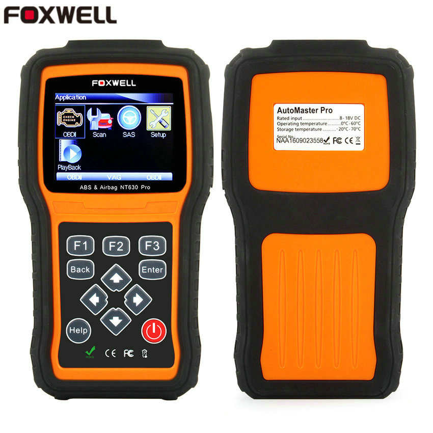 Foxwell NT630 Pro ABS SRS Air Bag Crash Data Reset OBD 2 Universal Automotive Scanner Air Bag Diagnostic-Tool NT630 Code Reader(China (Mainland))