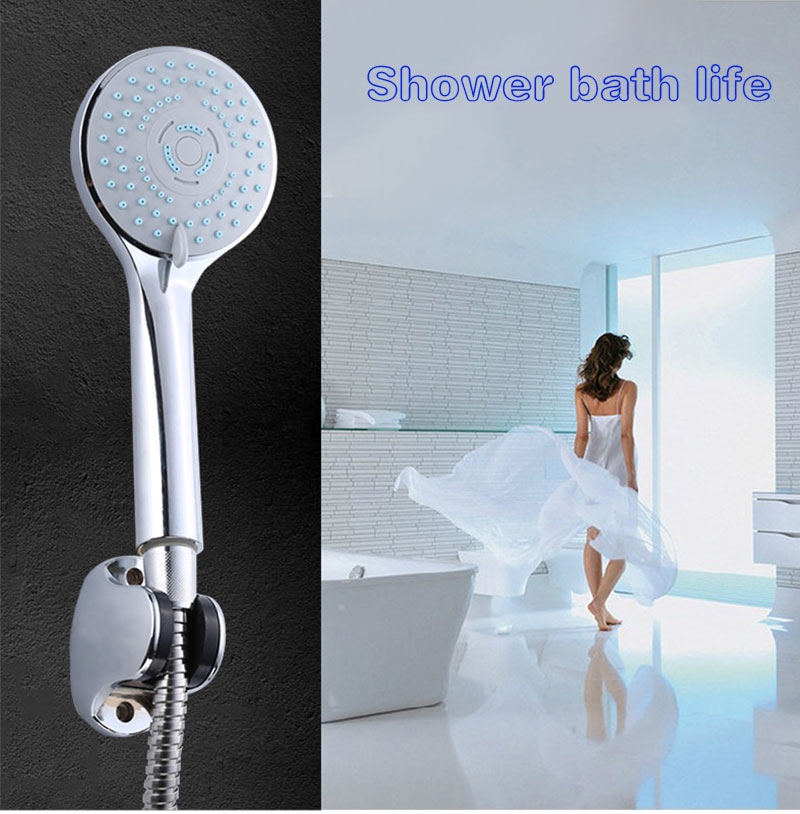 Three functions of water-saving shower nozzle handheld shower bath water heater bathroom shower in the rain(China (Mainland))