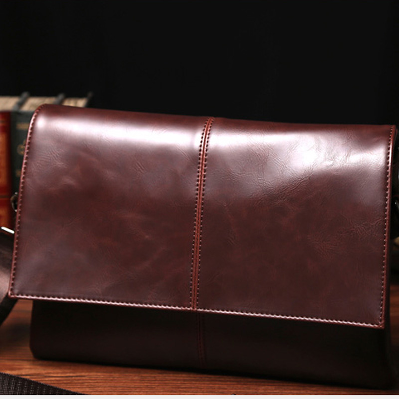PU leather man Korean version single shoulder bag/ fashion restro simple style solid color packet/messenger bag/crossbody packet