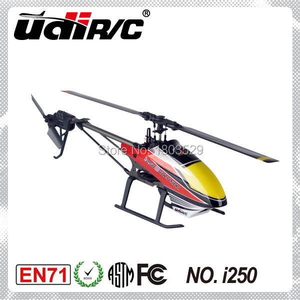 2015 Hot Sell UDIRC I250 Single Rotor Blade(Flybarless) Electric big 6 channel rc Helicopter rc plane&drone toy LCD Controller(China (Mainland))