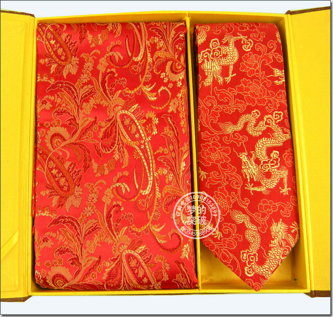 Brocade scarf and collar belt /brocade gift box /unique gift(China (Mainland))