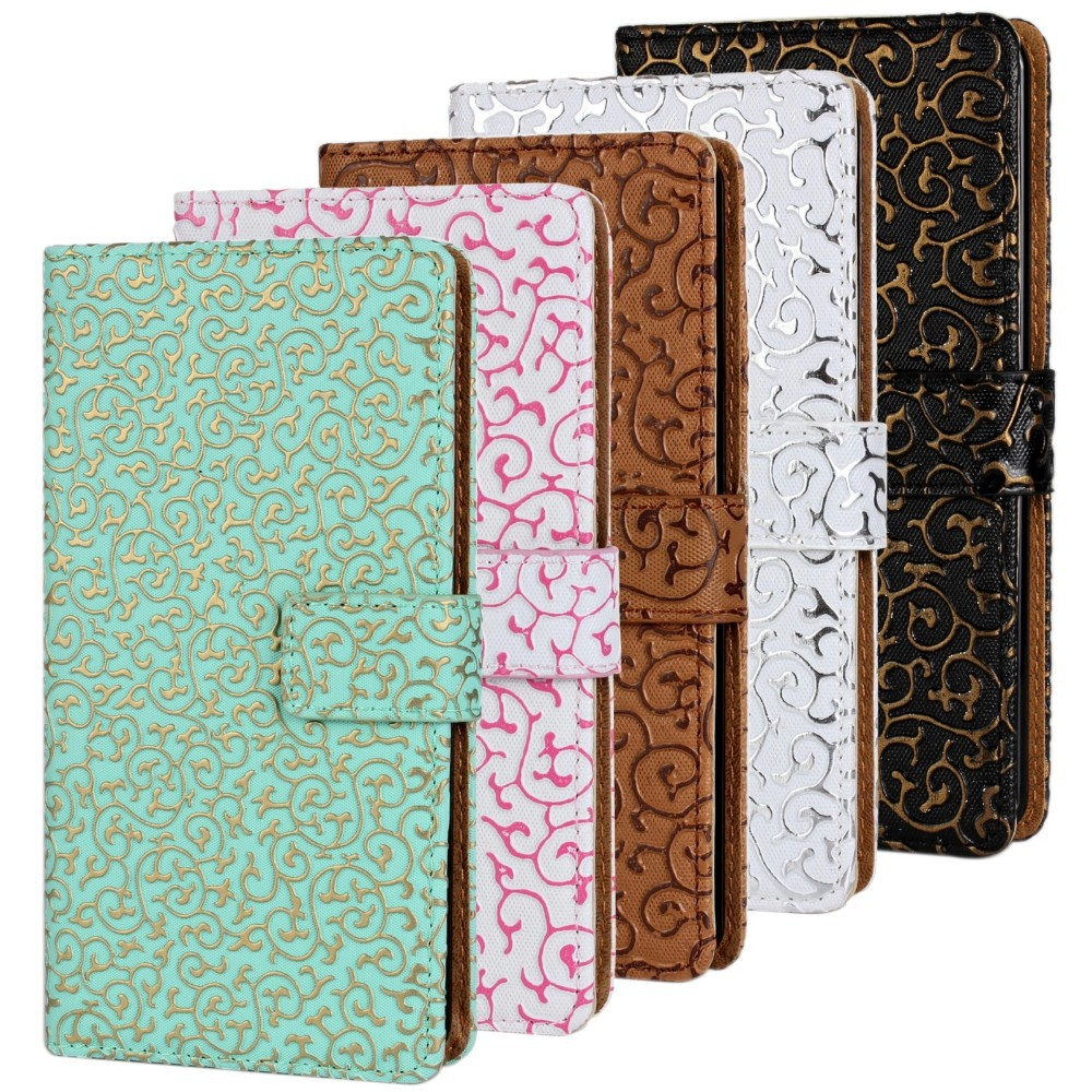 Luxury Z1 Case Wallet Bling Flip Leather Case For SONY Xperia Z1 L39h Fashion Rhinestone Phone Bag Case for Sony Xperia Z1 Cover