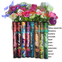 10pcs/lot Hot Sale E shisha pen disposable electronic cigarette 30 flavors 500 puffs e hookah pen best quality and lowest price