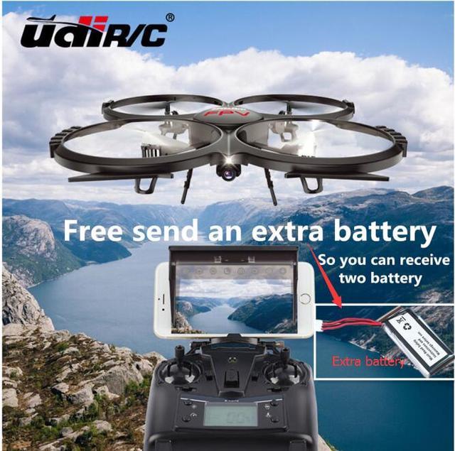 Бесплатно дополнительный аккумулятор rc drone UDI U919A БОЛЬШОЙ Пульт Дистанционного Управления Вертолетом Quadcopter 6-осевой Гироскоп Wifi FPV U818A Обновленная версия