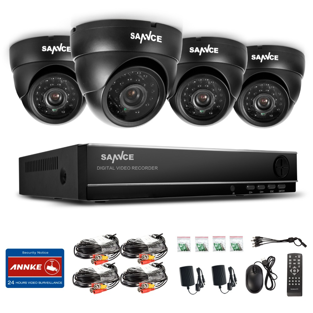 Big Promotion SANNCE Security CCTV 800TVL 960P 8CH Day Night IR 4 Cameras Kit High Definition Video Surveillance DVR CCTV System(China (Mainland))