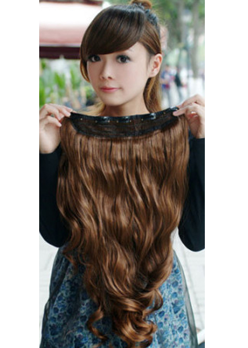 Гаджет  Essential 2014 New Fashion One Piece Long Curl/Curly/Wavy Hair Extension None Волосы и аксессуары
