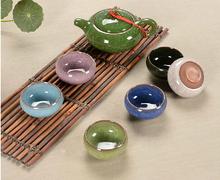Tea set seven sets Light green Kung Fu tea wholesale The highest sales of tea set