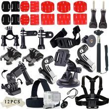 Go pro Accessories Set Three way mini font b tripod b font monopod Flat Mount For