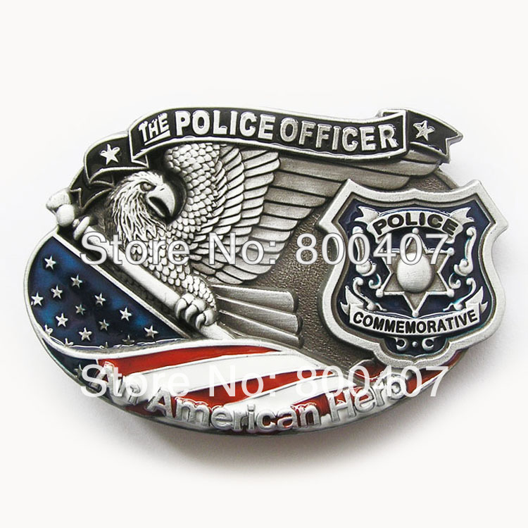Retail American Hero Police Belt Buckle Brand New In Stock Free Shipping to Worlwide(China (Mainland))