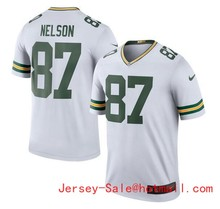2016 Rush Limited Men's Green Bay Packers 87# Jordy Nelson White Color Top Quality(China (Mainland))