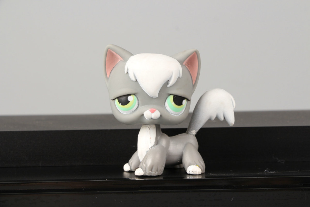Pet Shop Collection LPS Figure Toy ZZZ Tried Angora Cat #345 Nice Gift Kids(China (Mainland))