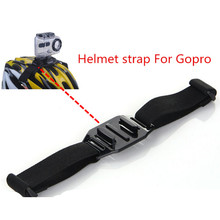 Gopro accessories vented helmet strap action camera bicycle helmet straps Mount Adapter for sj4000 xiaomi yi gopro helmet strap