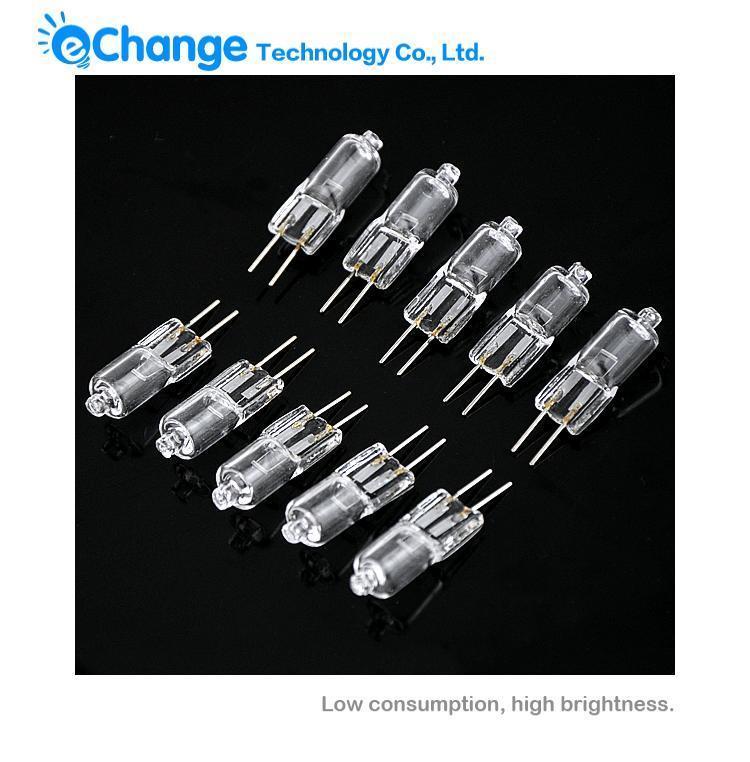 100PCS/LOT Halogen Light Bulb Lamp G4 Base Lamp 20W 20 Watt 12V G4 Base JC Type(China (Mainland))