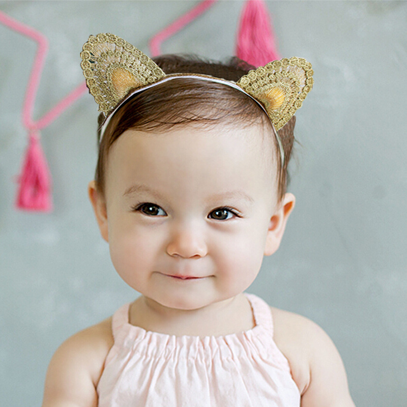 Gold Cat Ears Headband Kids