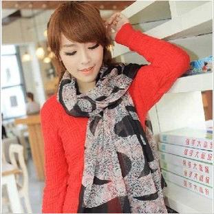 Новый бренд зима мода платки шарф леопарда печать женщин с платок мыса мягкий шифон шарфы-леди 4 цвет ( 1010c28 )