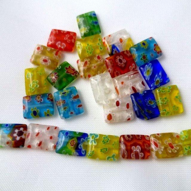 500 pcs/lot millefiori beads Free shipping