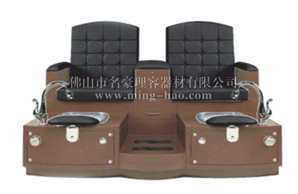 wooden base double seats pedicure chair for salon furniture