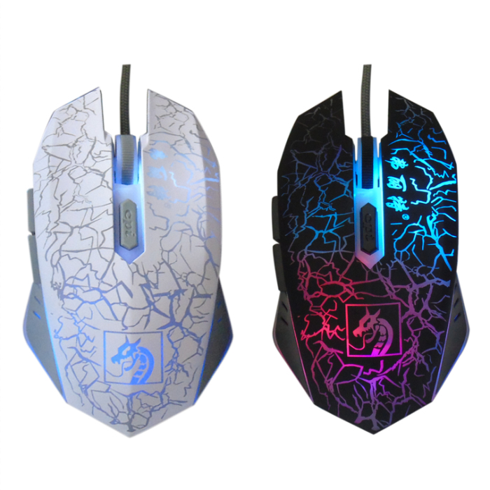 New G1 Professional Gaming Mouse Light Mute Silent Optical Computer Luminescent USB Wired Mouse for PC Gamer Desktop Laptop(China (Mainland))