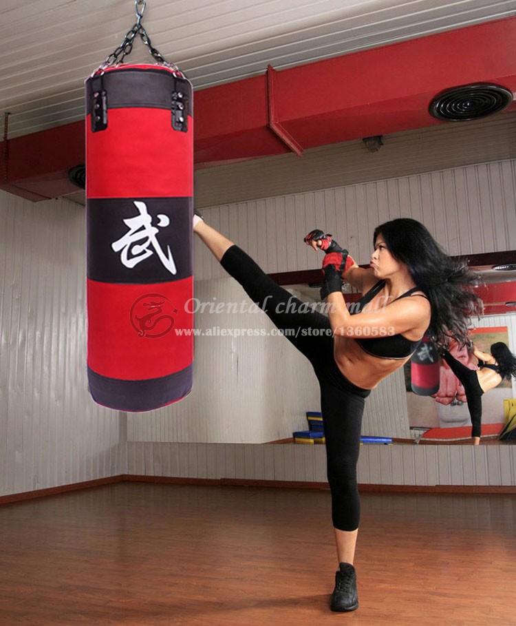 New 70cm Training Fitness MMA Boxing Bag Hook Hanging Kick MMA Fight Bag Sand Punch Punching Bag Sandbag (Empty) Free Shipping(China (Mainland))