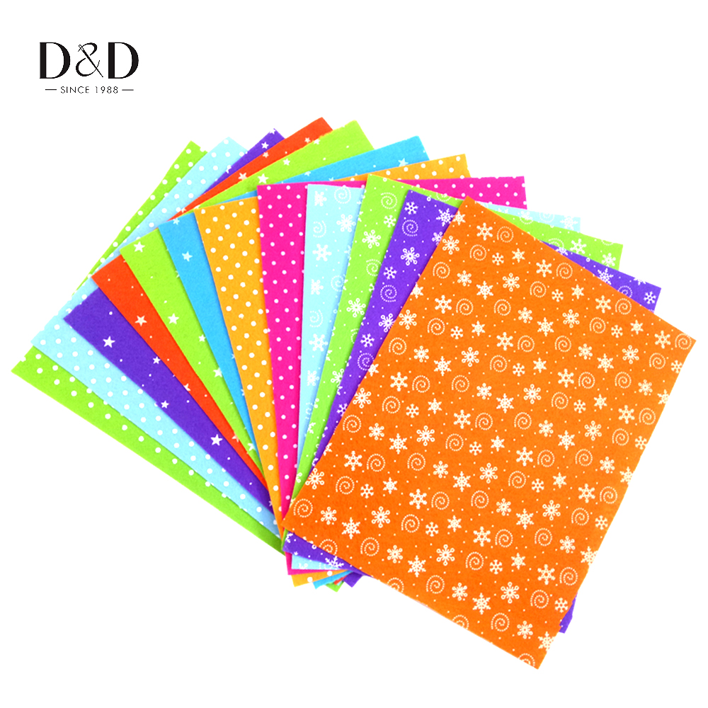 6pcs 30.5*23cm Non Woven Felt Fabric 1mm Thickness DIY Polyester Cloth Felts Crafts Sewing Home Decor(China (Mainland))