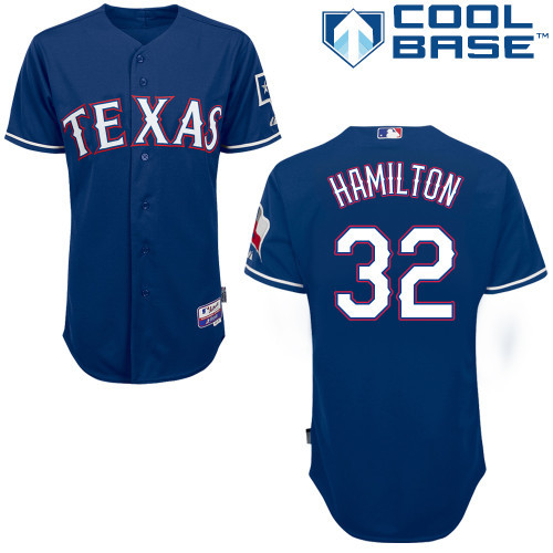 Texas Rangers #32 Josh Hamilton Authentic Baseball Jerseys Embroidery stitched onfield Cool Base Home Color Top Quality(China (Mainland))