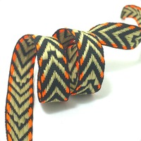 NEW 1/2''13mm 10yard/lots 100% polyester color geometry arrows Woven Jacquard Ribbon dog chain accessories KTZD16051004
