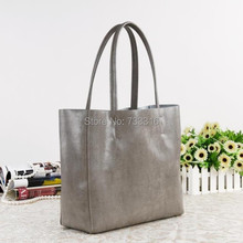 2015 Fashion Brief Women Bags 3 Sizes Cow Split Leather Cabas Big Tote Shopping Shoulder Bags