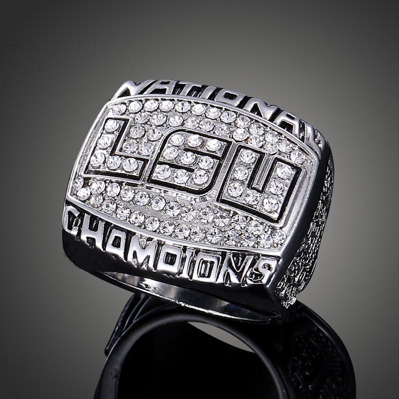 NCAA 2003 Louisiana State University LSU Tigers Super Bowl Replica Champ Ring Men Fashion Sports Fans Jewelry J02098(China (Mainland))