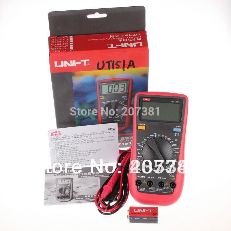 PRETTY 1x UNI-T UT151A LCD Digital Multimeter AC DC Volt Amp Ohm Capacitance Tester*<br><br>Aliexpress
