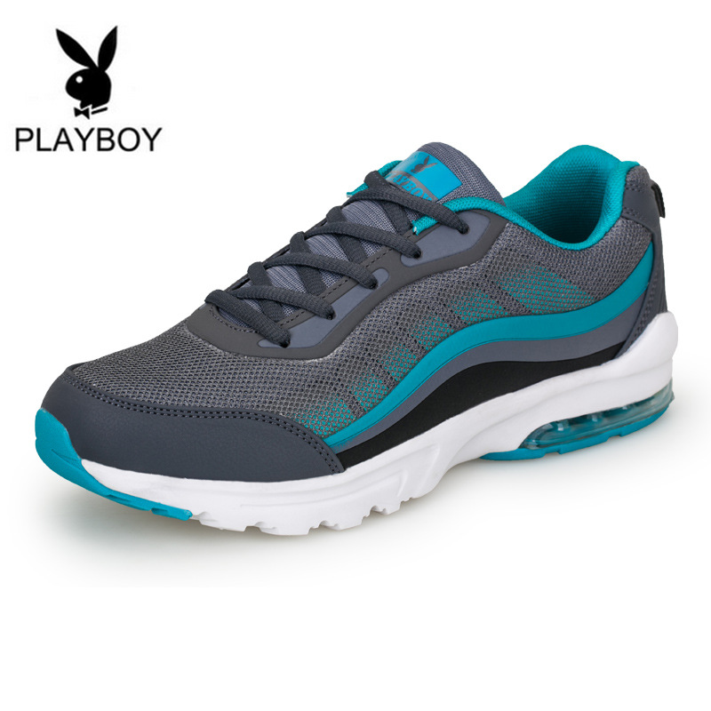 PLAYBOY 2016 New Men Shoes Casual Mixed Color Breathable Mesh Flat Sport Walking Mens light shoes - Feng shang co., LTD store