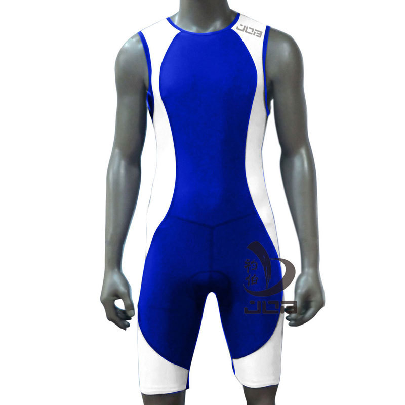 JOB Professional 1-piece moisture wicking compression swimwear Men's Comp Tri suit 501008(China (Mainland))