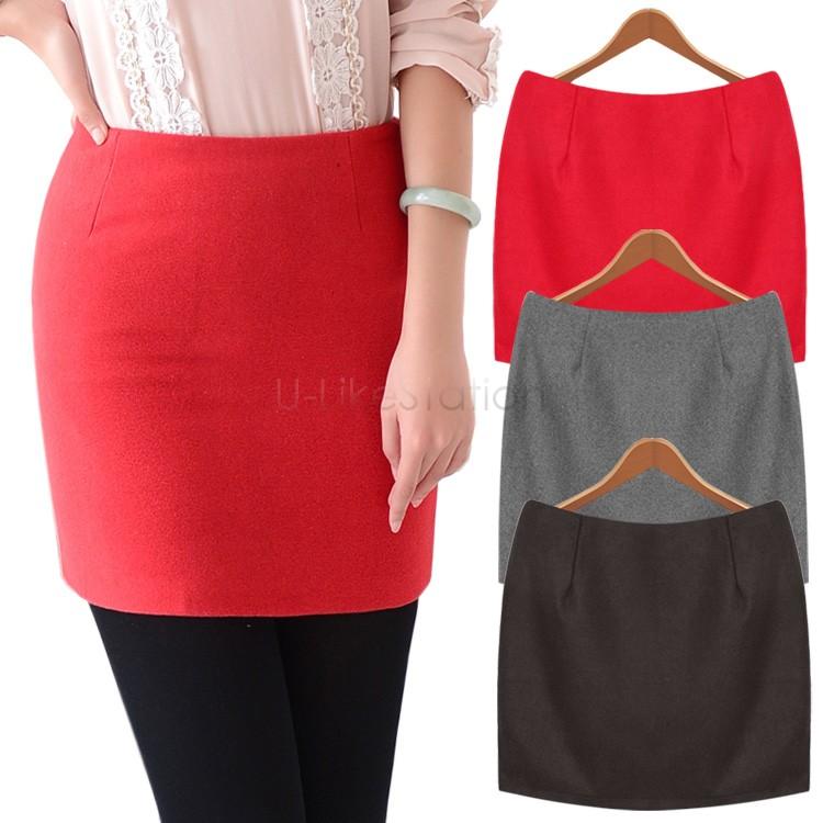 Осень и зима шерстяная ткань базовые короткая mini юбки для женщины марка приталенный хип шерсть юбка 35