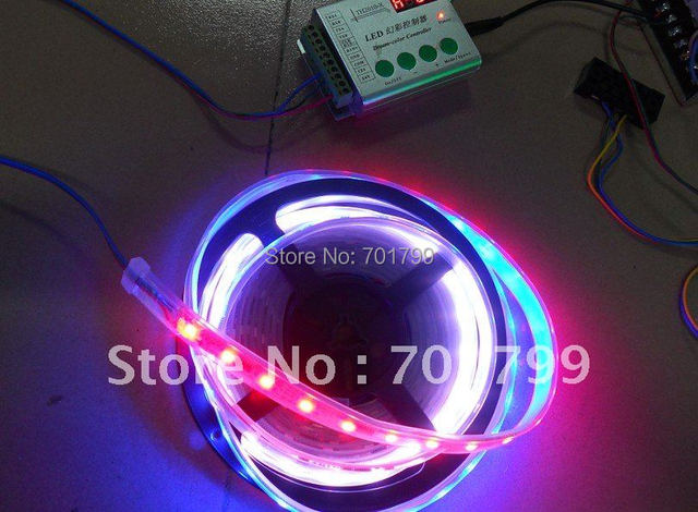 5m 48leds/m TM1809 led dream color strip+RF dream color controller+ power adaptor