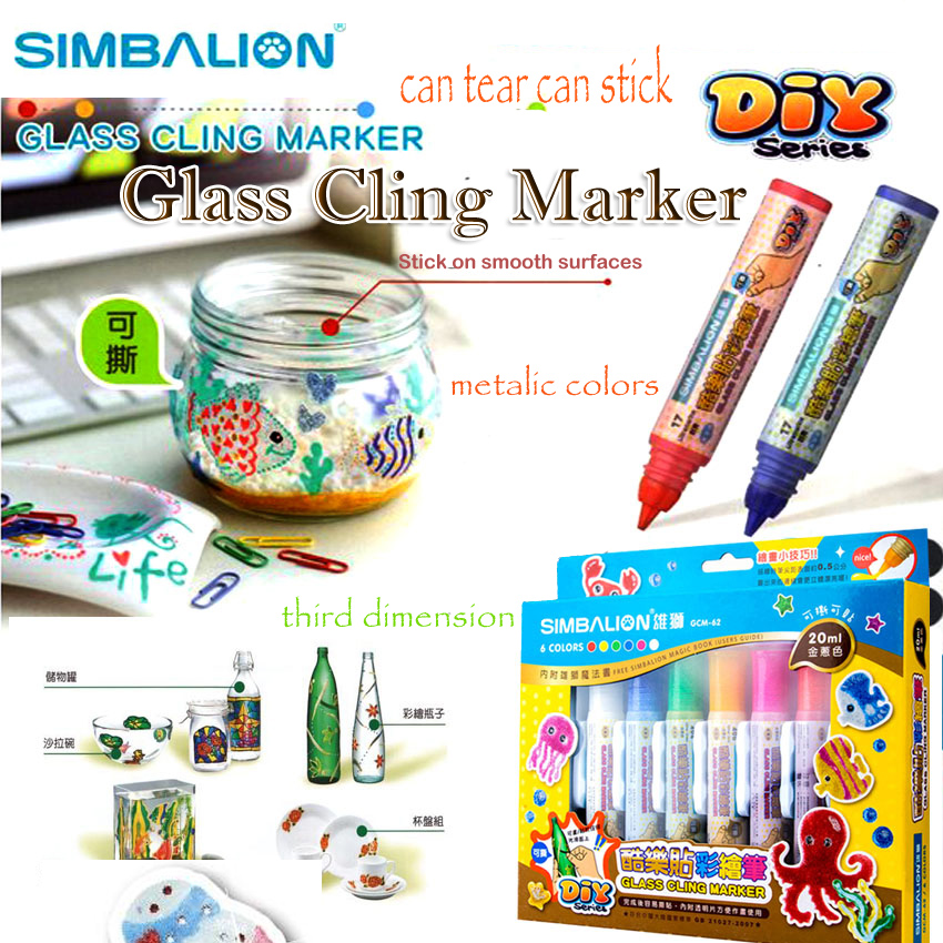 simbalion ceramic tile markers draw three-dimensional graffiti pen metallic colors diy markers paint refrigerator mobile phones(China (Mainland))