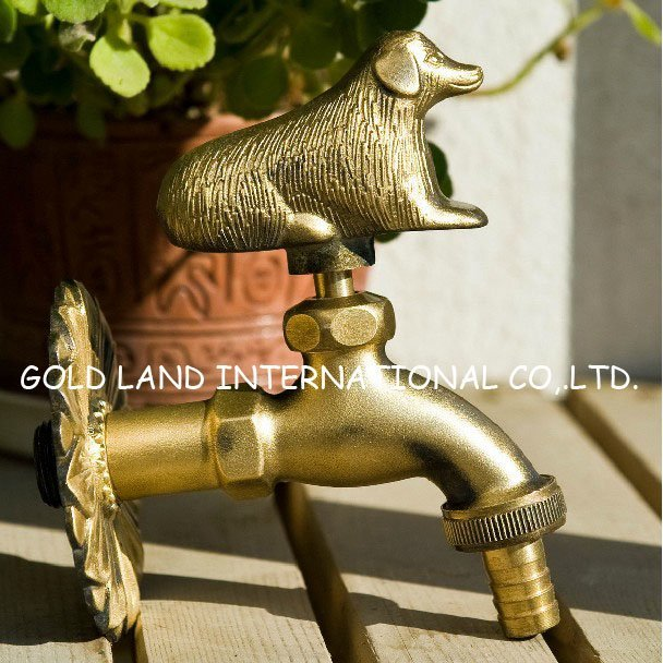 Free shipping dog item  best selling copper antique mop faucet/bronze bath brass sink tap/washing machine tap
