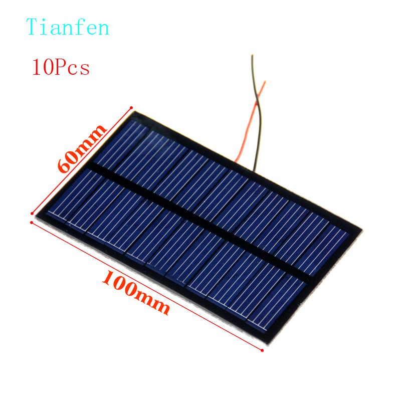 Tianfen 10Pcs Solar Cell 6V 150mA 100*60mm Polycrystalline Solar Panel Kit Solar Battery Wholesale DIY cell phone charging(China (Mainland))