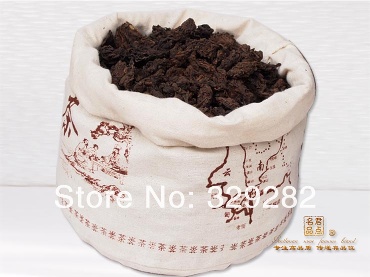 1000G Mellow Taste old year MengHai LaoCha Tou loose puer tea Ripe Puerh Tea Free Shipping