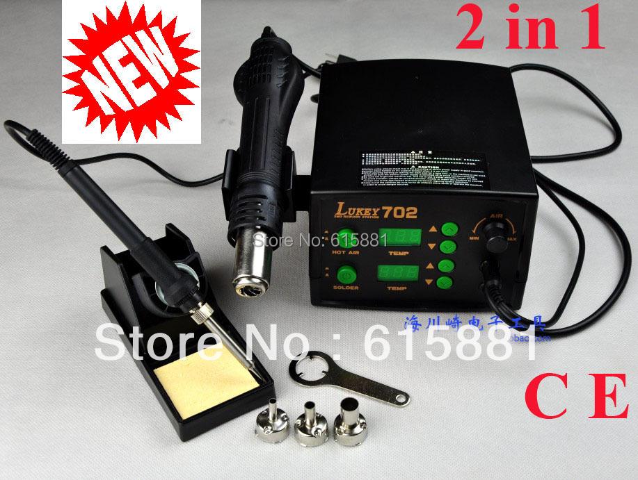 Электрический паяльник 2 1 smd/,  Lukey 702 CE цена 2017