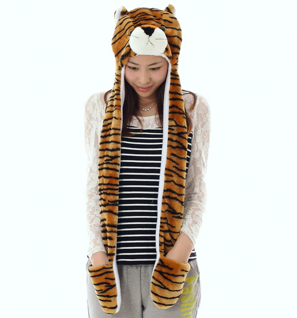 Tiger Animal Hat With Paws