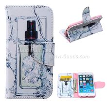 For iphone6 case Perfume Bottle Leather Wallet Case for iPhone 6 (4.7 inch) FREE SHIPPING