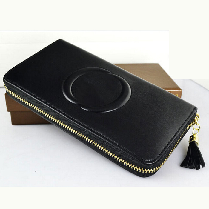 Гаджет  women wallets genuine leather cowhide tassel ladies purse fashion brand design zip women longwallets None Камера и Сумки